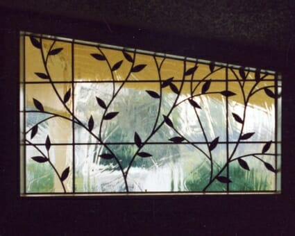 Leaded Glass Transom Panel